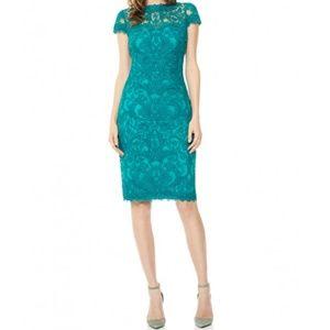 Tadashi Shoji Corded Lace Overlay Dress